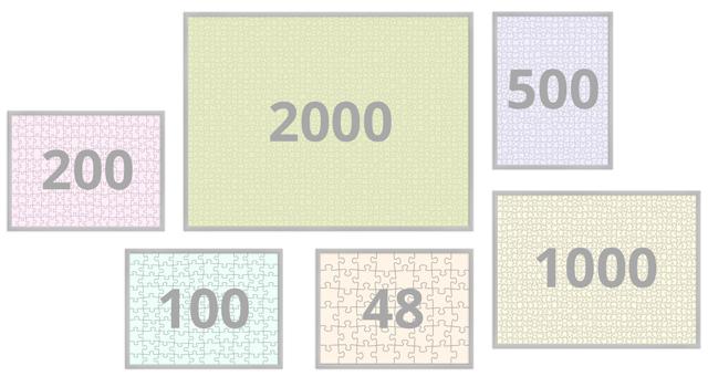 Puzzellijst 48-200 stukjes