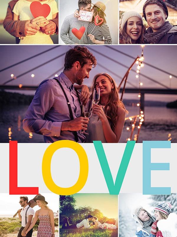 Fotopuzzel met een thema's collage 7 foto's