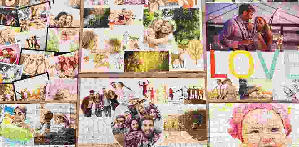Layout-overzicht photopuzzle collage