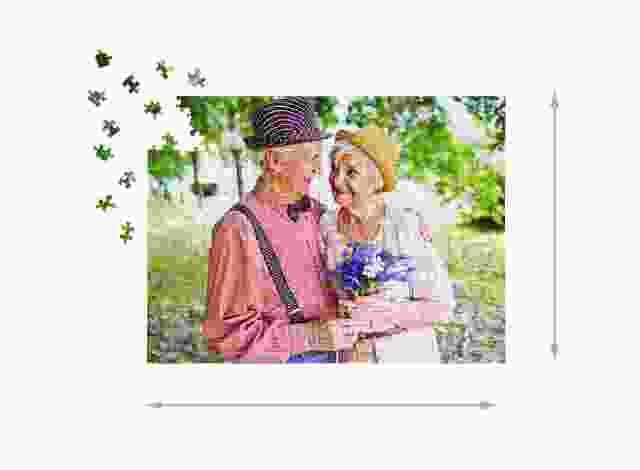 Fotopuzzle mit 500 Teilen Gelegte Größe