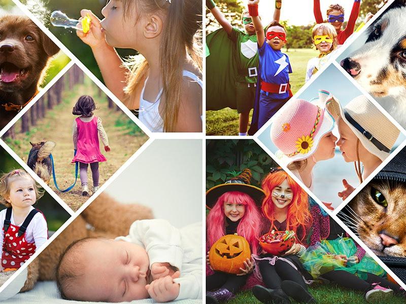 Fotopuzzel met een artistieke collage 10 foto's