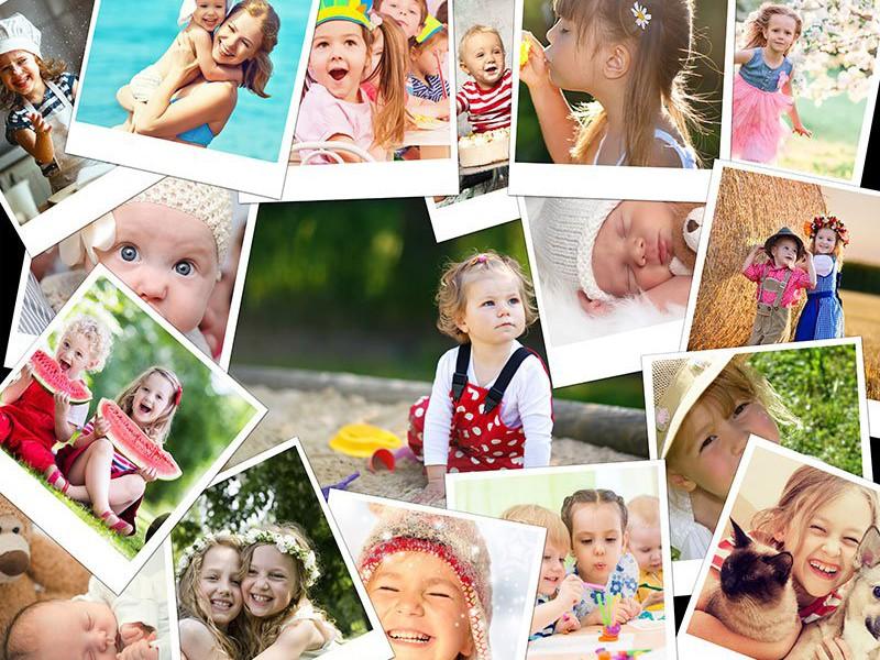 Fotopuzzel met een overlappende collage 17 foto's