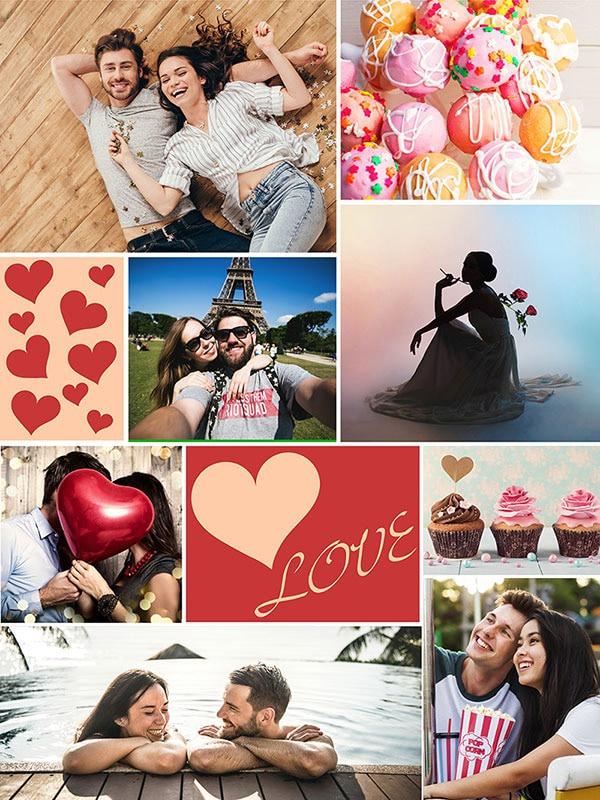 Fotopuzzel met een thema's collage 8 foto's