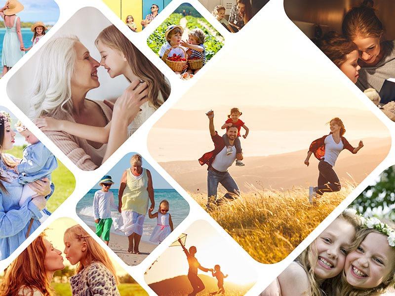 Fotopuzzel met een artistieke collage 12 foto's