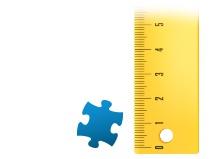 Verhouding puzzelstukje fotopuzzle 600 stukjes