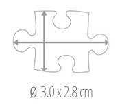 Maat puzzelstukje - fotopuzzel 200 stukjes