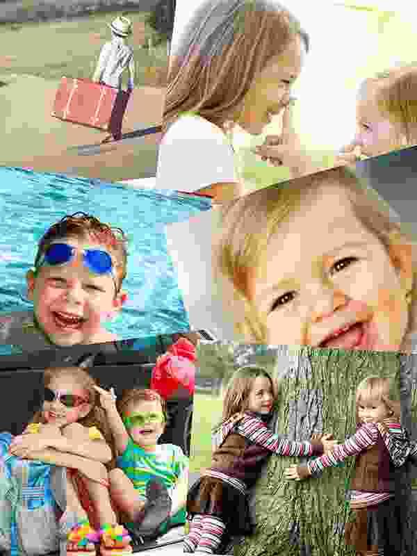 Fotopuzzel met een overlappende collage 6 foto's