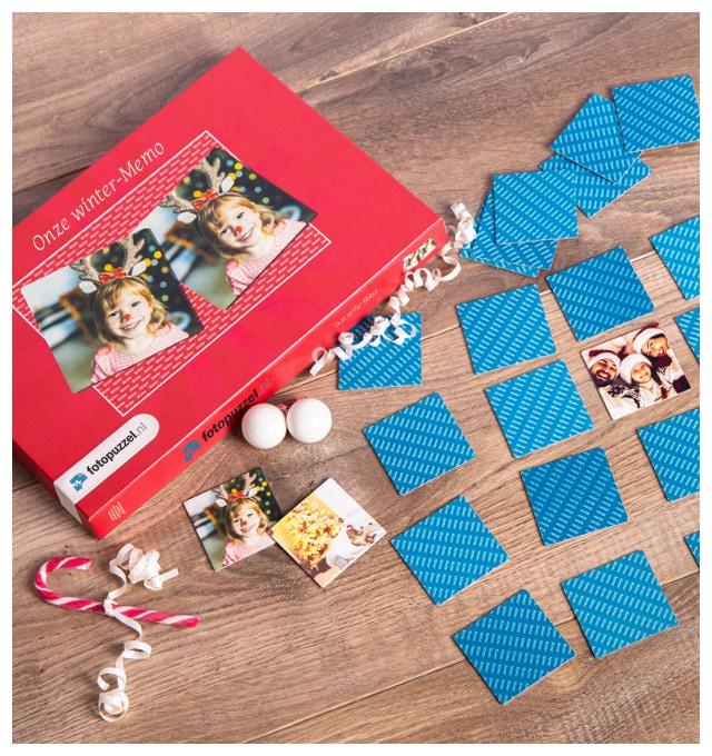 Memo spel met eigen foto's – een kerstcadeau voor jong en oud