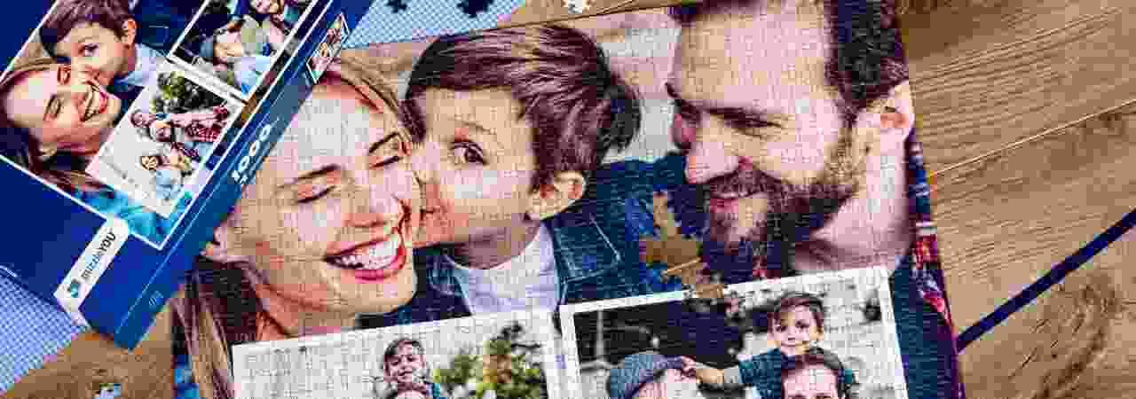 Fotopuzzel collage Familie