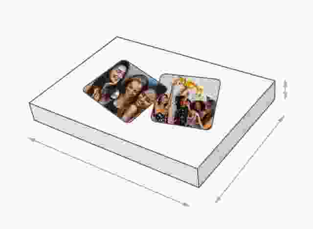 Maat van de Memo spel doos