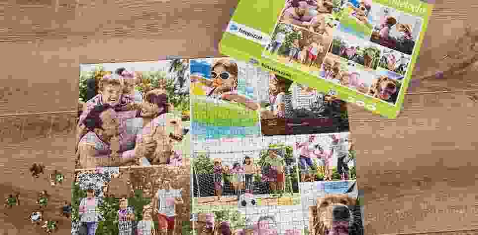 Fotopuzzel met een eenvoudige collage