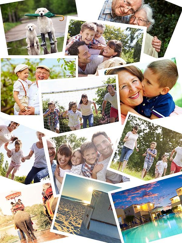 Fotopuzzel met een overlappende collage 12 foto's