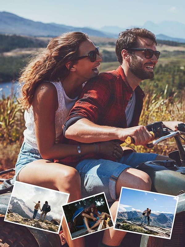 Fotopuzzel met een eigen achtergrondfoto collage 4 foto's
