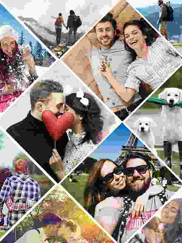 Fotopuzzel met een artistieke collage 11 foto's