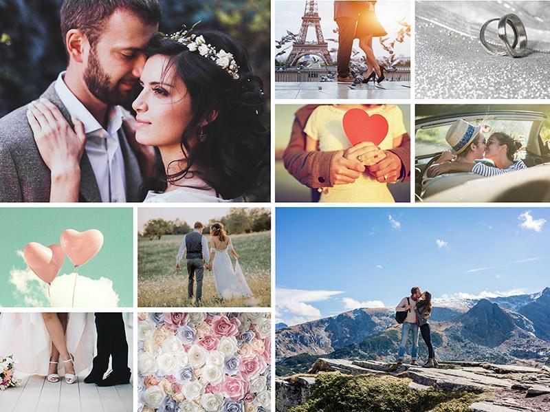 Fotopuzzel met een eenvoudige collage 10 foto's