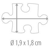 Maat puzzelstukje - fotopuzzel 500 stukjes