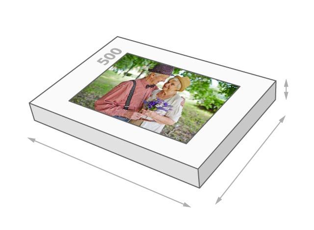 Fotopuzzle mit 500 Teilen Schachtelgröße
