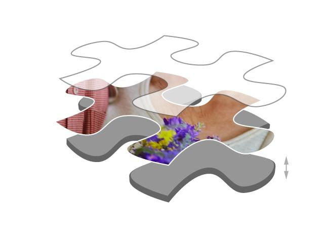 Fotopuzzle mit 500 Teilen Premium Puzzlepappe