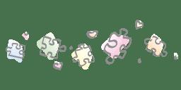 Kleurrijke puzzelstukjes
