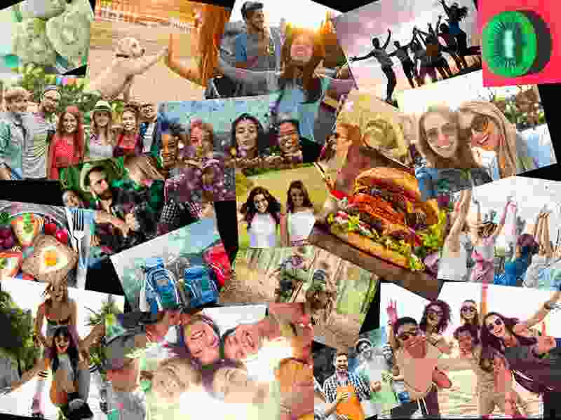 Fotopuzzel met een overlappende collage 20 foto's