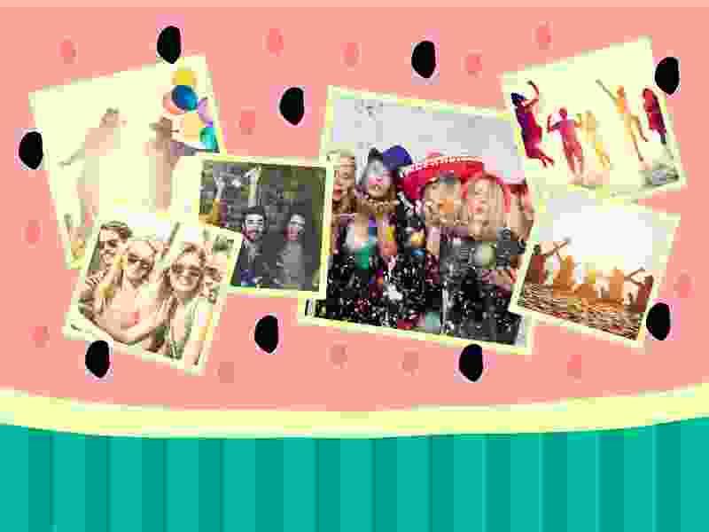 Fotopuzzel met een afbeeldingen collage 6 foto's
