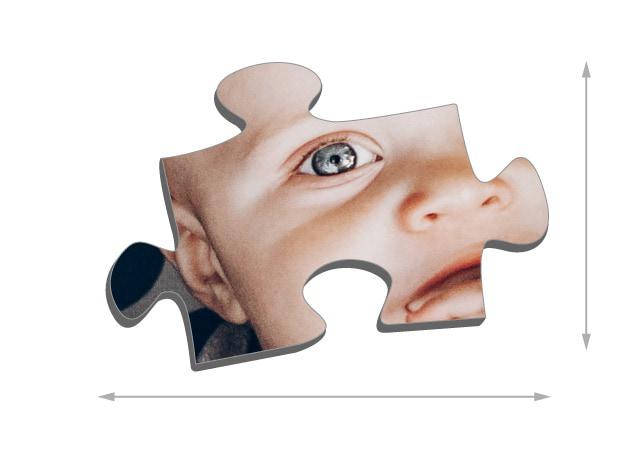 Fotopuzzel 2000 stukjes Grootte van de puzzelstukjes