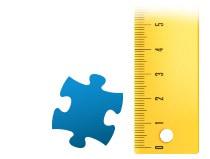 Verhouding puzzelstukje fotopuzzle 200 stukjes