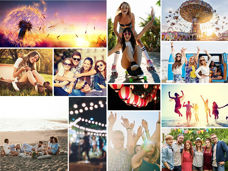 Fotopuzzel met een eenvoudige collage 12 foto's