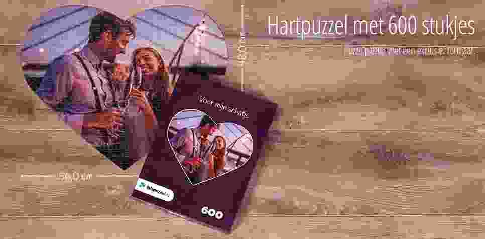600 stukjes fotopuzzel, Hartpuzzel