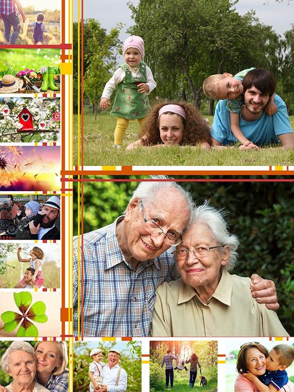 Fotopuzzel met een afbeeldingen collage 13 foto's