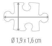 Maat puzzelstukje - fotopuzzel 600 stukjes